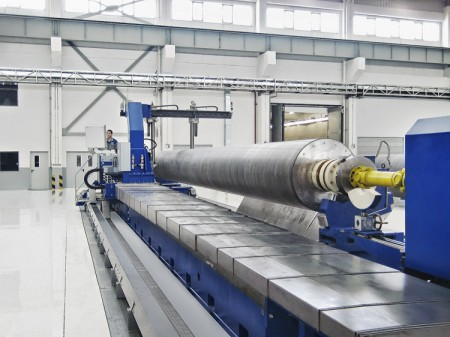 World's longest roll on SBA Roll Grinder