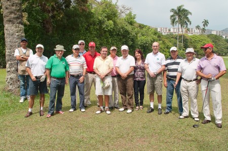 Group photo of Golf Championship 2010 participants